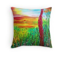 Awakening of the dawn Throw Pillow