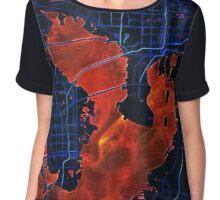 Dark map of Tampa Bay Chiffon Top