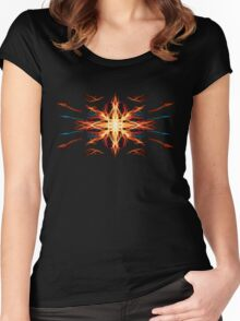 Energetic Geometry- Fire Element Women's Fitted Scoop T-Shirt