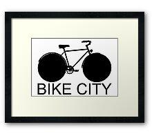 Bike City - Concept Icon Framed Print