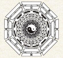 Mandala Yin Yang (white) by Leah McNeir