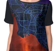 Dark map of Los Angeles Chiffon Top
