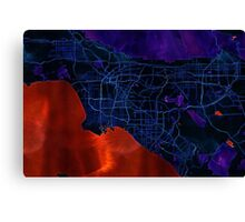 Dark map of Los Angeles Canvas Print