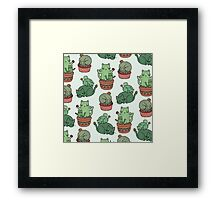 Cactus Cats Framed Print