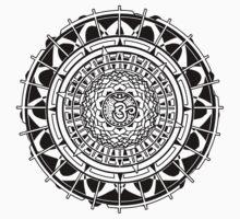 Mandala Om (white) One Piece - Short Sleeve