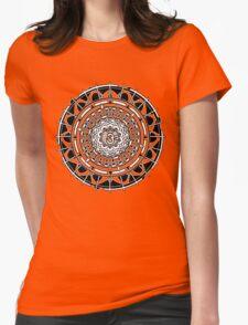 Mandala Om (white) Womens Fitted T-Shirt