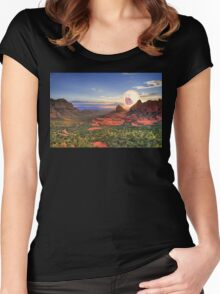 Screaming Sun Sedona. Women's Fitted Scoop T-Shirt