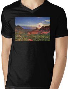 Screaming Sun Sedona. Mens V-Neck T-Shirt