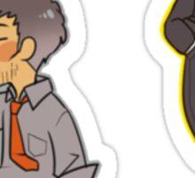 Persona 4 Adachi Tohru and Ryotaro Dojima Sticker
