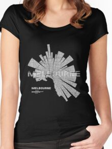 Melbourne Map Women's Fitted Scoop T-Shirt