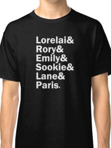 Gilmore Girls - Lorelai & Rory & Emily & Sookie & Paris | Black Classic T-Shirt
