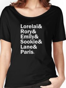 Gilmore Girls - Lorelai & Rory & Emily & Sookie & Paris | Black Women's Relaxed Fit T-Shirt