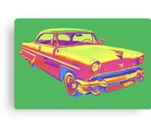 1955 Lincoln Capri Luxury Car Pop Art Canvas Print