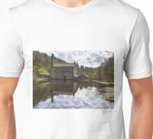 Gibson Mill in Hardcastle Crags nature park, Unisex T-Shirt