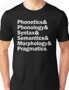 Areas of Linguistics | Black Unisex T-Shirt