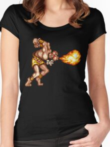 Dhalsim Women's Fitted Scoop T-Shirt