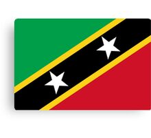 St. Kitts And Nevis Flag Canvas Print
