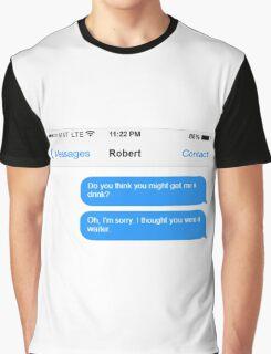 Dowager Texts: Dowager burns Robert  Graphic T-Shirt