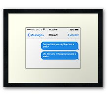 Dowager Texts: Dowager burns Robert  Framed Print