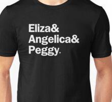 Hamilton - Eliza & Angelica & Peggy   Black Unisex T-Shirt