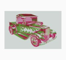 Model A Ford Pickup Hotrod Pop Art Baby Tee