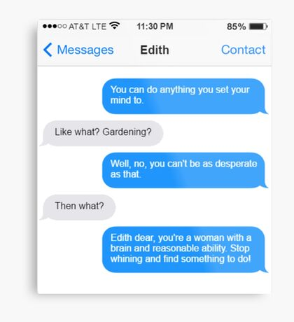 Dowager Texts: Convo with Edith  Metal Print
