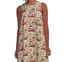 Mes pamplemousses A-Line Dress