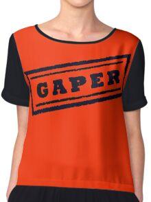 Gaper Stamp (Black) Chiffon Top