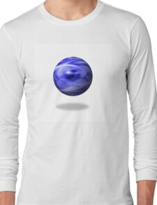 Blue Flame Globe Long Sleeve T-Shirt