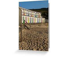 Porthgwidden beach huts, St Ives, Cornwall Greeting Card