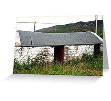 Abandoned Barn, Inishowen Peninsular, Donegal, Ireland Greeting Card