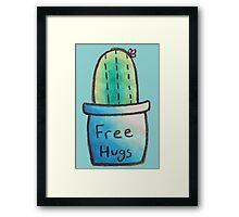 Cactus Just Wants Hugs Framed Print