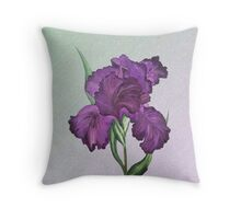 Purple Iris 1 Throw Pillow