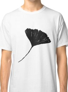 Ginkgo biloba, Lino cut nature inspired leaf pattern Classic T-Shirt