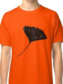 Ginkgo biloba, Lino cut nature inspired leaf pattern Classic T-Shirt