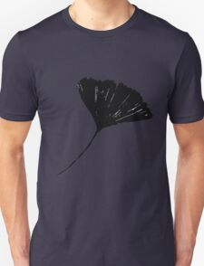 Ginkgo biloba, Lino cut nature inspired leaf pattern Unisex T-Shirt