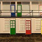 Porthgwidden beach huts, St Ives, Cornwall by Jeff  Wilson