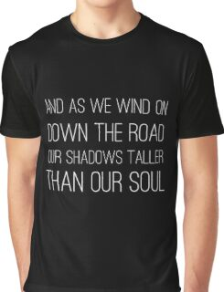 Epic Rock and Roll Famous 60s Lyrics Text Stairway Graphic T-Shirt