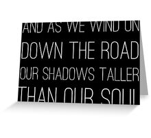Epic Rock and Roll Famous 60s Lyrics Text Stairway Greeting Card