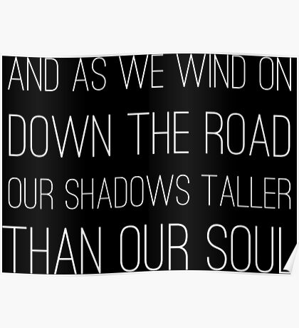 Epic Rock and Roll Famous 60s Lyrics Text Stairway Poster