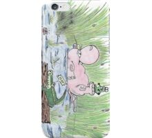 Bathing Hippo iPhone Case/Skin