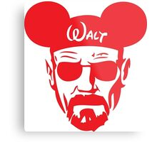 Red Walter White Mouse Ears Metal Print