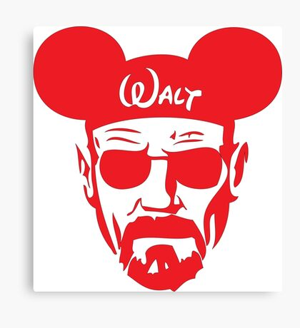 Red Walter White Mouse Ears Canvas Print