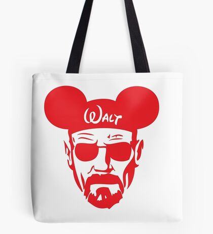 Red Walter White Mouse Ears Tote Bag