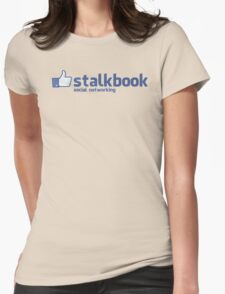 Stalkbook - social notworking Womens Fitted T-Shirt