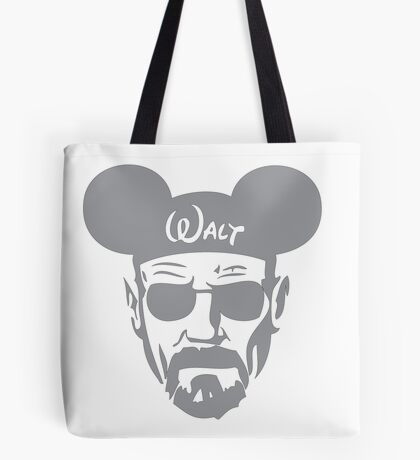 Grey Walter White Mouse Ears Tote Bag