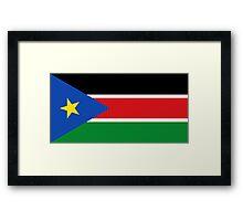 South Sudan Flag Framed Print