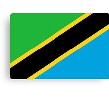 Tanzania Flag Canvas Print