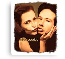 Gillian and David - Schmoopies Canvas Print