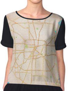 Watercolor map of Houston metropolitan area Chiffon Top